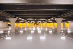 Подземная автостоянка в Оденсе, Дании Стоковая Фотография