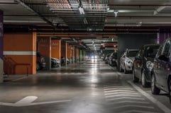 Подземная автостоянка Стоковые Изображения