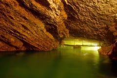 Подземное река в пещере Стоковые Фотографии RF