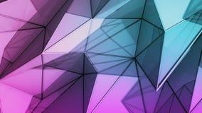 Полигональная абстрактная поверхность Петля 3D Semless представляет иллюстрация штока