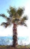 Полигональная ладонь Стоковые Изображения RF