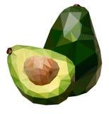 Полигональная иллюстрация авокадоа Стоковые Изображения RF