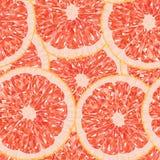 Полигональная иллюстрация вектора картины куска грейпфрута безшовной Стоковое Изображение RF