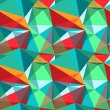 Полигональная картина цвета стоковое изображение