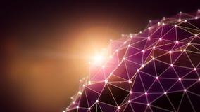 Полигональная предпосылка Стоковая Фотография RF