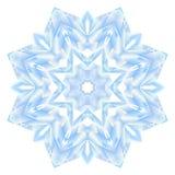 Полигональная снежинка вектора мозаики Стоковые Фотографии RF