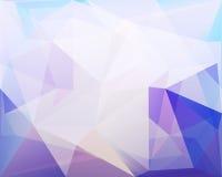 Полигональные предпосылка вектора треугольника, синь, розовая и бирюза c Стоковые Фото