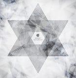 Полигональные треугольники и предпосылка космоса Стоковая Фотография