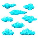 Полигональные установленные облака Стоковая Фотография