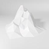 Полигональный ландшафт горы Стоковые Изображения