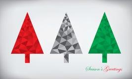 Полигональный комплект рождественской елки Стоковая Фотография