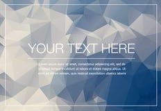 Полигональный модель-макет поздравительной открытки Стоковые Фото
