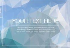 Полигональный модель-макет поздравительной открытки Стоковое Изображение RF