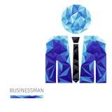 Полигон бизнесмена иллюстрация штока