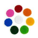 Полимерная краска Colorant для пластмасс Пигмент в зернах Стоковое Изображение RF