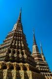 Подлинная тайская архитектура в Wat Pho на Бангкоке Таиланда Стоковые Изображения RF