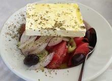 подлинный греческий салат Стоковое Изображение