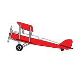 Подлинный ретро самолет бесплатная иллюстрация