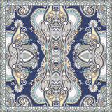 Подлинный silk дизайн картины шарфа или банданы шеи квадратный в u иллюстрация вектора