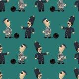 Полисмен гоня избеганный похитителя бесплатная иллюстрация