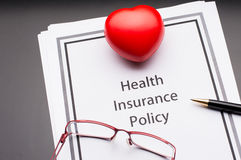 Политика медицинской страховки Стоковые Изображения RF