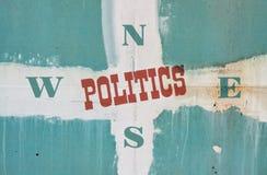 Политика отдельного слова стоковые фотографии rf