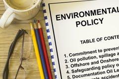 Политика по вопросам окружающей среды стоковое изображение rf