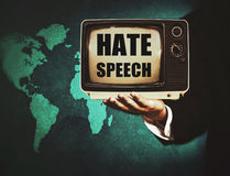 Политическая агрессивная речь Стоковое фото RF