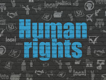 Политическая концепция: Права человека на предпосылке стены Стоковая Фотография RF
