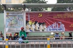 Политическая пропаганда в Вьетнаме Стоковые Фотографии RF