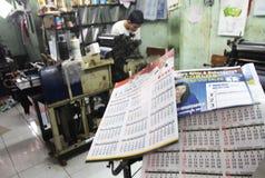 Политический календарь Стоковые Фотографии RF