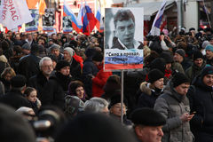 Политичная толпа России действия Стоковая Фотография RF