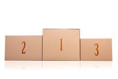 Подиум картонных коробок Стоковое фото RF