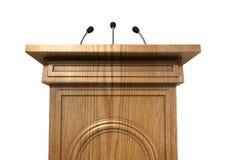 Подиум пресс-конференции стоковое изображение rf