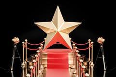 Подиум с золотой звездой, переводом 3D бесплатная иллюстрация