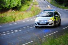 Полицейская машина Девона и Корнуолла, северный Девон стоковое фото rf