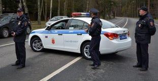 Полицейские машины Стоковая Фотография