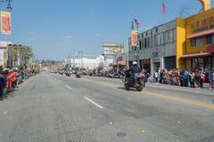Полицейские на мотоциклах выполняя на Стоковое фото RF