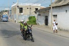 Полицейские на улице Cartagena стоковое изображение rf