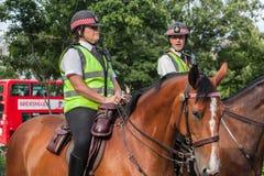Полицейскии на лошадях Лондоне Стоковые Изображения RF