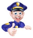 Полицейский давая большие пальцы руки вверх Стоковая Фотография RF