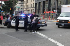 Полицейский автомобиль Стоковое Изображение RF