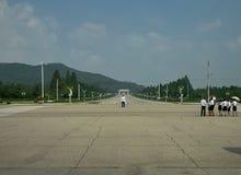 Полицейский движения в Пхеньяне, Северной Корее Стоковое Изображение