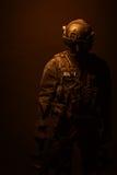 Полицейский СВАТ ops спецификаций Стоковая Фотография RF