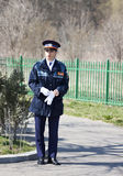 Полицейский студента женщины Стоковая Фотография RF