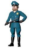 Полицейский шаржа изолированный на белизне Стоковые Фото