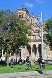 Полиции в центре Белграда Стоковое Изображение