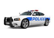 полиции изолированные автомобилем Стоковое Фото