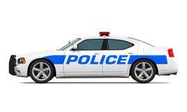 полиции изолированные автомобилем Стоковые Фотографии RF