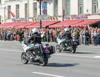 Полиции на мотоциклах Стоковое Изображение